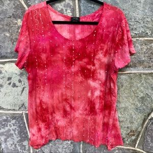 Shannon Ford tie dyed sequin tee shirt